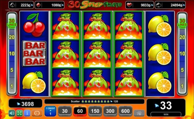 Spiele 30 Spicy Fruits - Video Slots Online