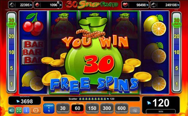 30 Spicy Fruits Slot Machine