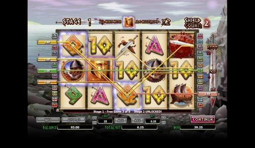 Play slots at Mega Casino: Mega Casino featuring the Video Slots 300 Shields with a maximum payout of $4,000