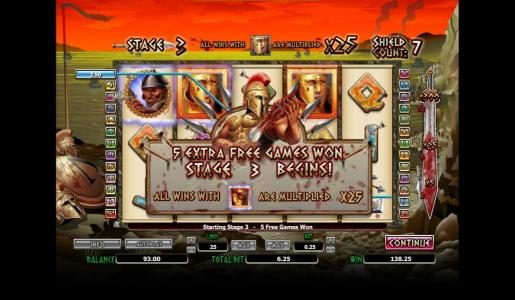 Vegas Winner featuring the Video Slots 300 Shields with a maximum payout of $4,000