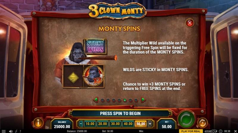 3 Clown Monty :: Monty Spins