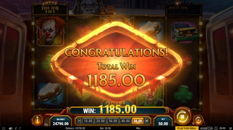 3 Clown Monty :: Total Free Spins Payout