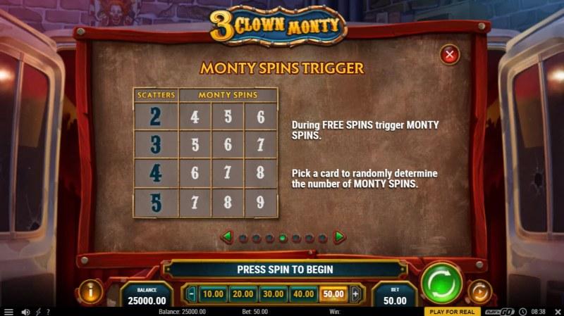 3 Clown Monty :: Monty Spins Trigger