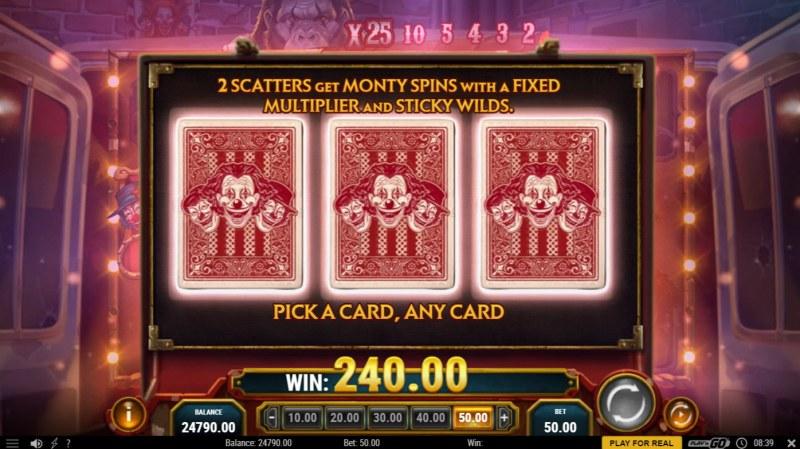 3 Clown Monty :: Pick A Card