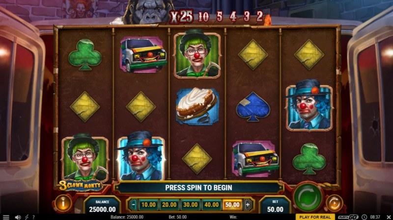 3 Clown Monty :: Base Game Screen