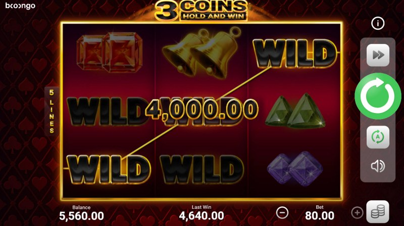 3 Coins Hold and Win :: Multiple winning paylines
