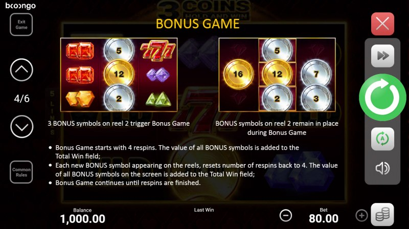 3 Coins Hold and Win :: Bonus Feature