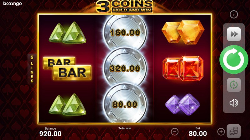 3 Coins Hold and Win :: Bonus game triggered