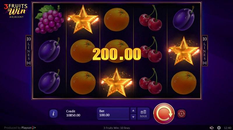 3 Fruits Win :: Scatter Win