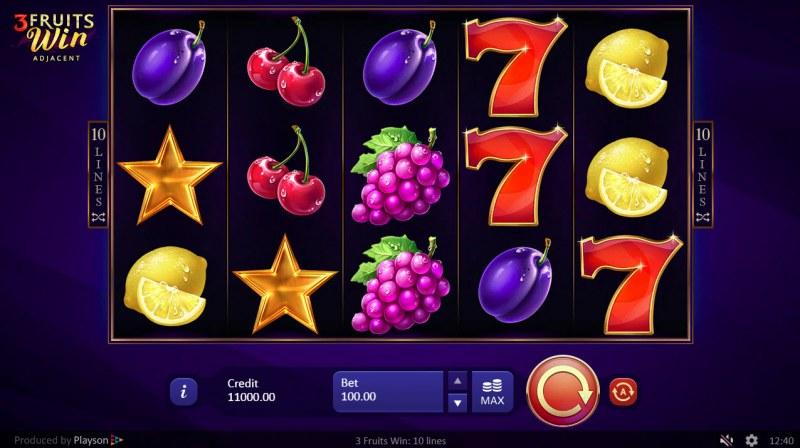 3 Fruits Win :: Main Game Board