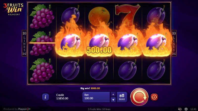 Play slots at Greenspin: Greenspin featuring the Video Slots 3 Fruits Win with a maximum payout of $250,000