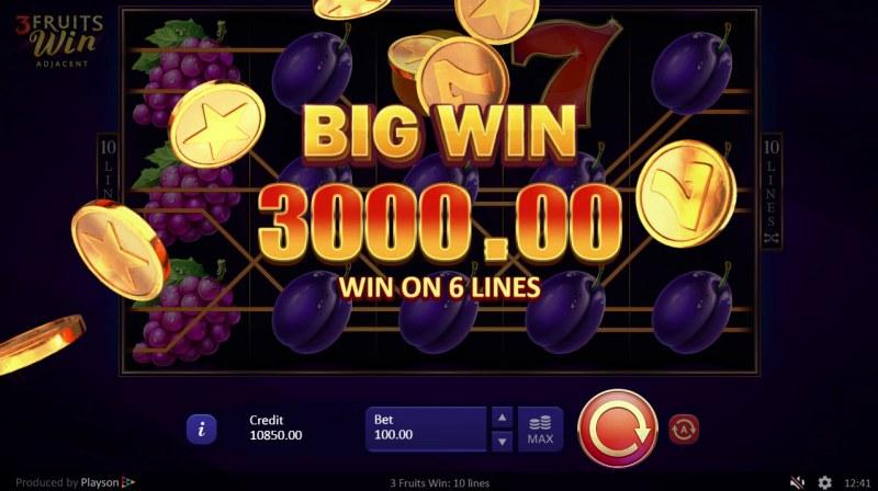 3 Fruits Win :: Big Win