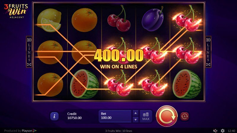 3 Fruits Win :: Game pays in both directions