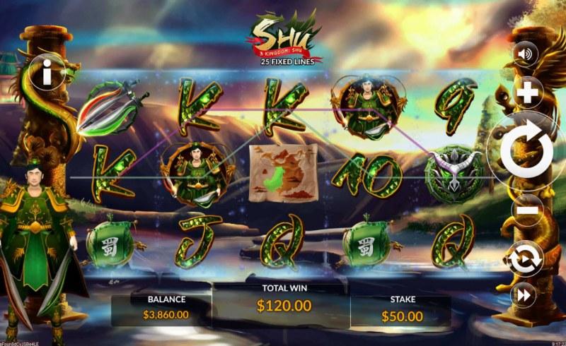 3 Kingdom Shu :: Multiple winning paylines