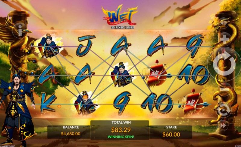 3 Kingdom Wei :: Multiple winning paylines
