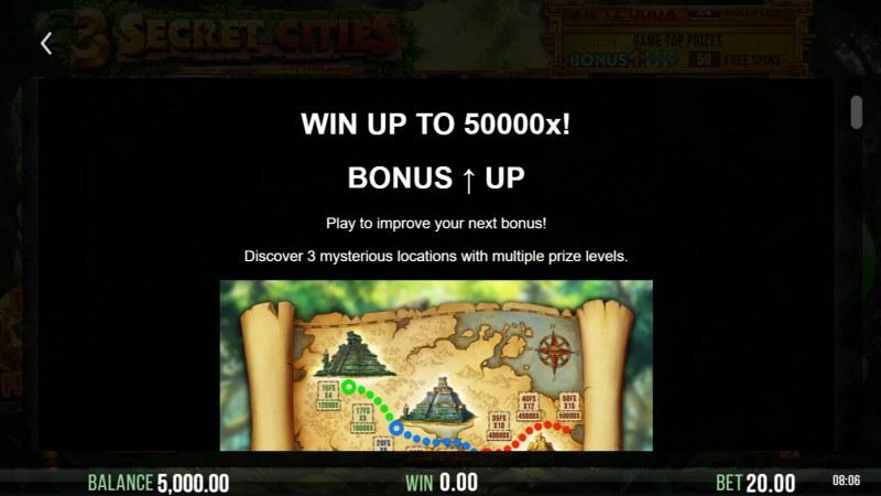 3 Secret Cities :: Bonus Up Feature
