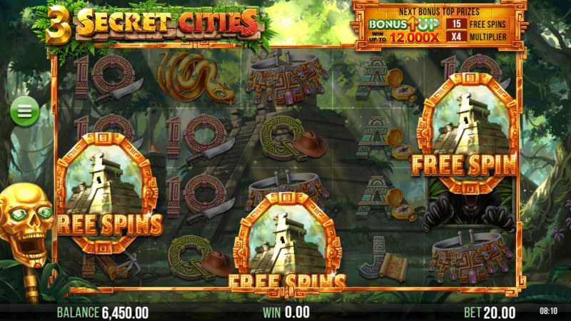 3 Secret Cities :: Scatter Symbol Rules