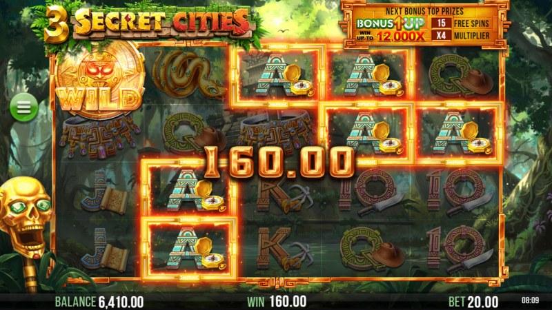 3 Secret Cities :: A five of a kind win