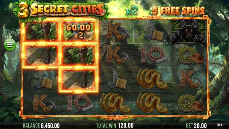 3 Secret Cities :: Free Spins Game Board