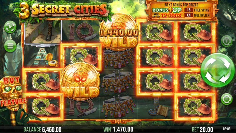 3 Secret Cities :: Multiple winning paylines