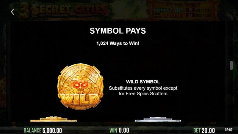 3 Secret Cities :: Wild Symbol Rules