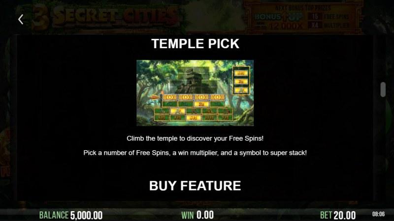 3 Secret Cities :: Temple Pick
