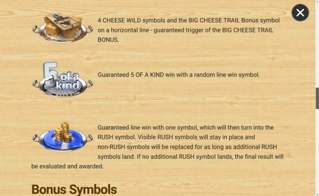 3 Blind Mice :: Special Bonuses Rules - Continued