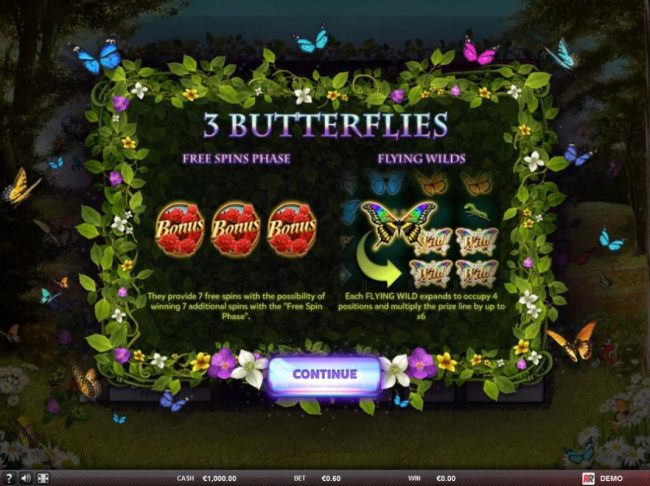 Play slots at Koala Royal: Koala Royal featuring the Video Slots 3 Butterflies with a maximum payout of $125,000