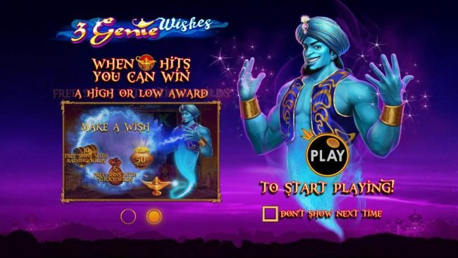 Play slots at Mayflower: Mayflower featuring the Video Slots 3 Genie Wishes with a maximum payout of $2,000
