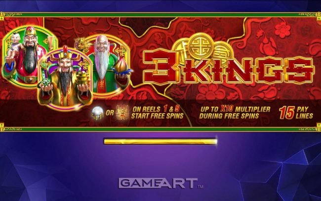 Magik Slots featuring the Video Slots 3 Kings with a maximum payout of $30,000