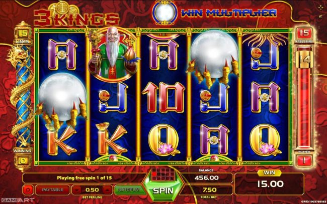 Spintropolis featuring the Video Slots 3 Kings with a maximum payout of $30,000