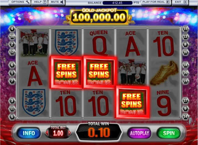 Fun Casino featuring the Video Slots 3 Lions with a maximum payout of $100,000