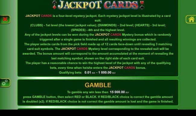 40 Burning Hot :: Jackpot Cards Rules