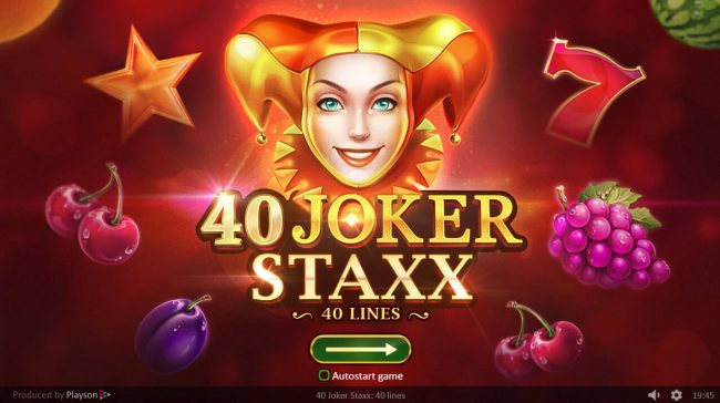 Play slots at ReelTastic: ReelTastic featuring the Video Slots 40 Joker Staxx with a maximum payout of $160,000