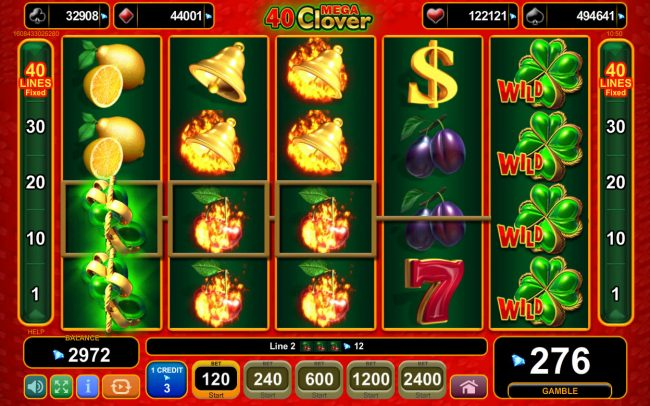 Buran featuring the Video Slots 40 Mega Clover with a maximum payout of 0