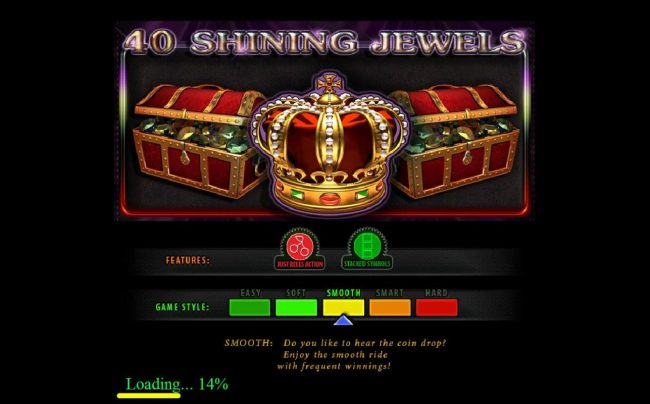 Play slots at Powerspins: Powerspins featuring the Video Slots 40 Shining Jewels with a maximum payout of $200,000