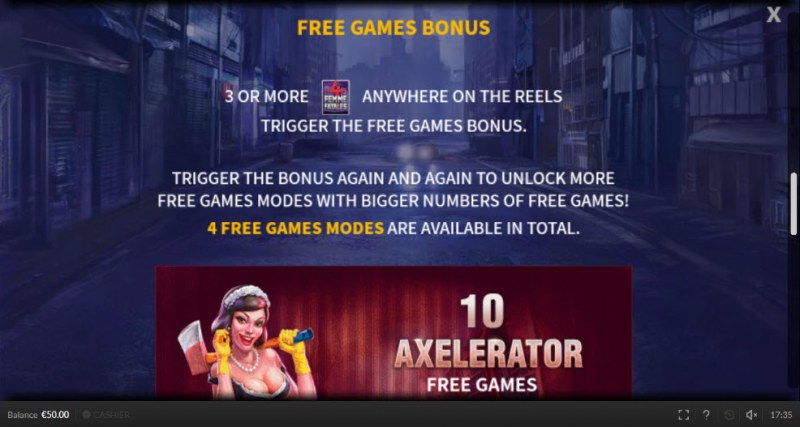 4 Femme Fatales :: Free Spins Rules