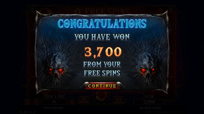 4 Horsemen II :: Total free spins payout