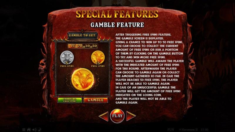 4 Horsemen II :: Gamble Feature Rules