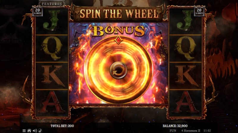 4 Horsemen II :: Scatter symbols triggers bonus feature