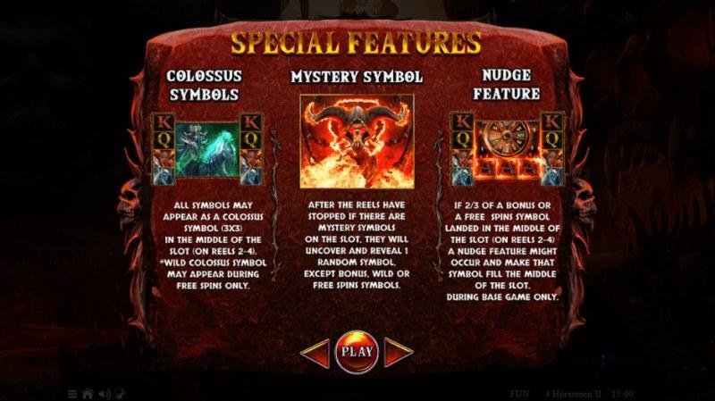 4 Horsemen II :: Feature Rules