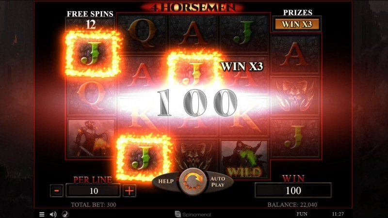 4 Horsemen :: Free Spins Game Board