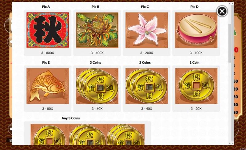 4 Seasons Autumn :: Paytable