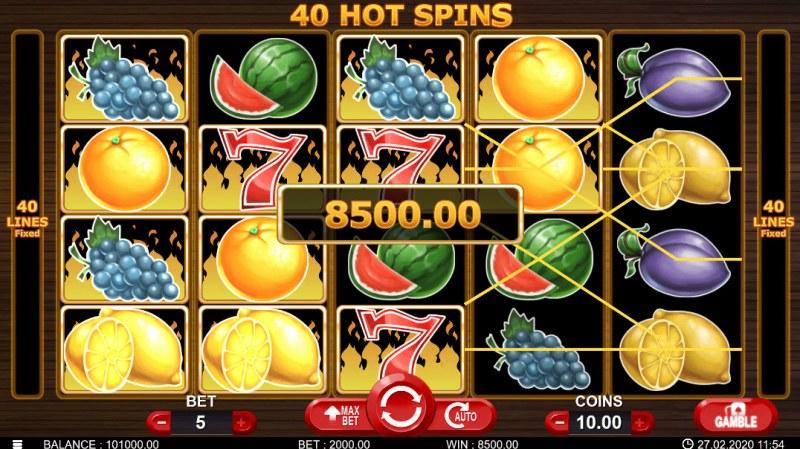 40 Hot Spins :: Big Win