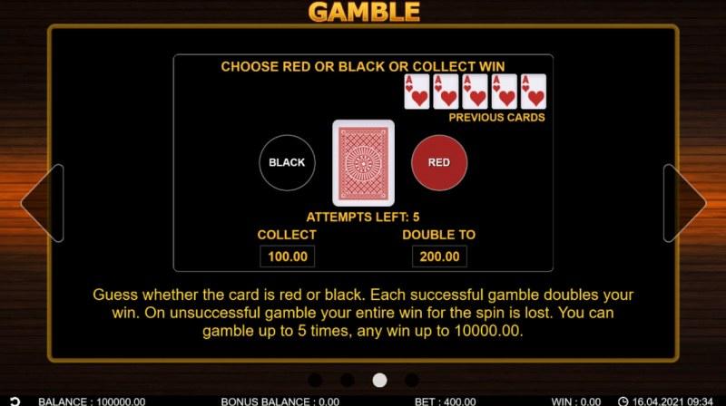 40 Hot Twist :: Gamble feature