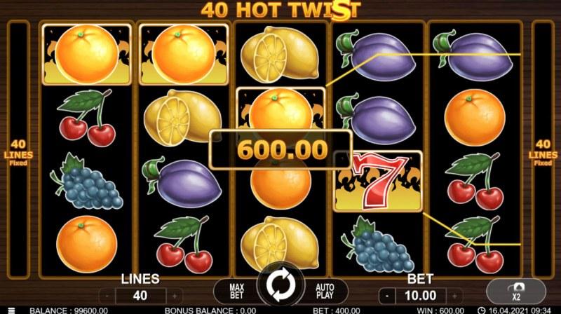 40 Hot Twist :: Multiple winning paylines