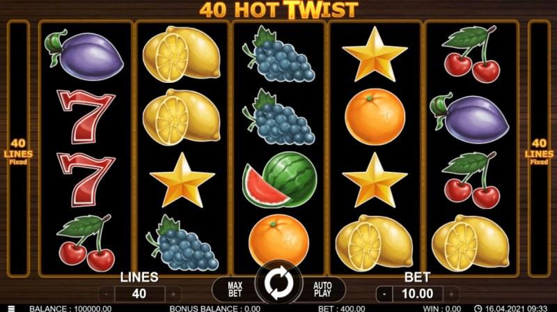 40 Hot Twist :: Main Game Board