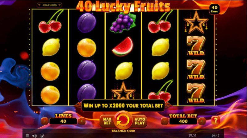 40 Lucky Fruits :: Main Game Board