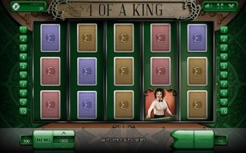 Bonanza featuring the Video Slots 4 of a King with a maximum payout of $100,000