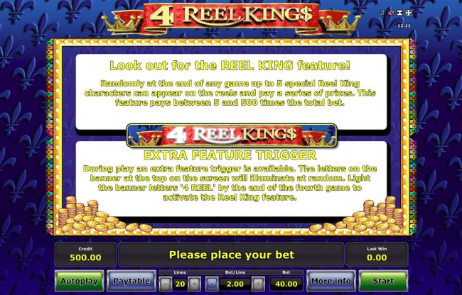 4 Reel King :: Feature Rules